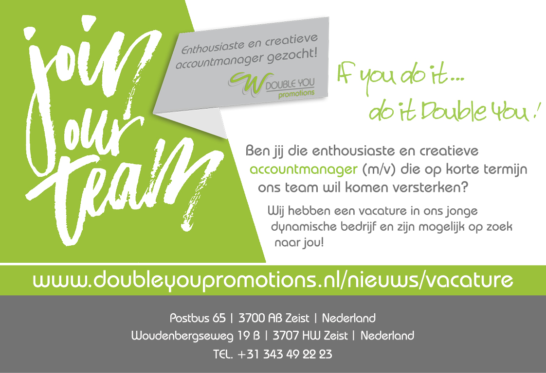 vacature accountmanager Double You Promotions